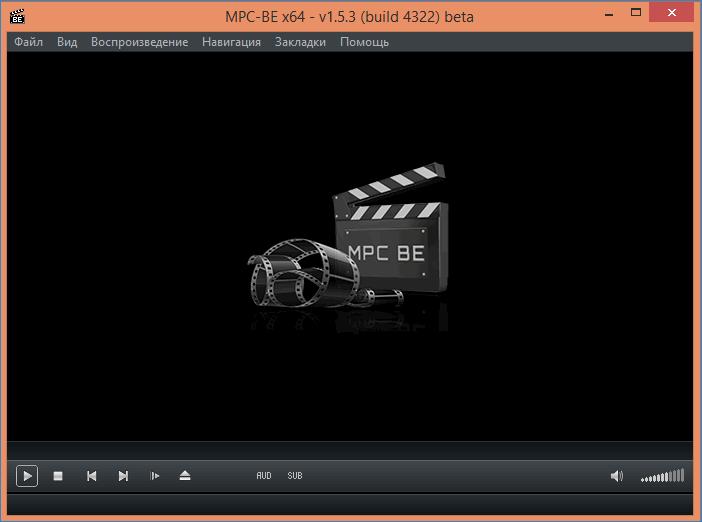 Главное окно программы Media Player Classic Black Edition