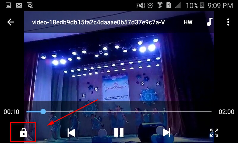 Просмато видео в MXPlayer