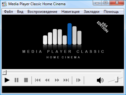 Стандартная обложка Media Player Classic