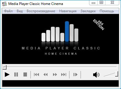 Стандартная оболочка Media Player Classic